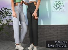 Sims Free Play, Sims 4 Mods Clothes, Sims 4 Clothing, Cute Casual Outfits, Girl Outfits, Sims 4 Outfits, Sims 4 Cas Mods, Denim Short Dresses, Sims 4 Gameplay