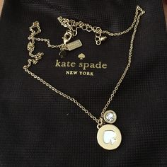 """Kate Spade """"spot the spade"""" necklace New. Bought direct from store. kate spade Jewelry Necklaces"""