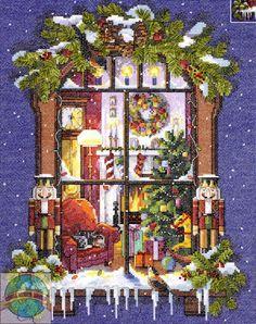 Janlynn - Christmas Window - Cross Stitch World