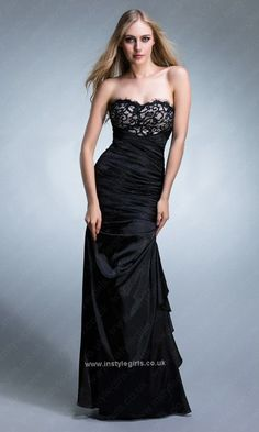 d550923050a Lace Covered Elegant Black Mermaid Formal Dress Prom 2013 Lace Bridesmaid  Dresses