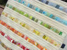 stripey quilt