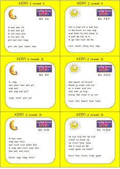 kern 2 dicteekaartjes (1).pdf Kids Writing, Writing Tips, Primary School, Pre School, Teaching First Grade, Math For Kids, School Hacks, Love My Job, Kids Education
