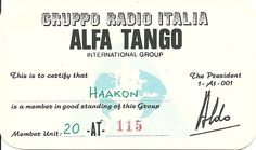The certificate in one of the other clubs   AT Italy