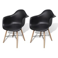 Set of 2 Eiffel Style Dining Chair Wood Leg in Black Faux Leather Dining Chairs, Dining Table Chairs, Kitchen Chairs, Dining Room Furniture, Patchwork Chair, Floor Rugs, Handmade Leather, Cow Leather, Timeless Design