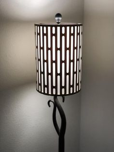 Laser-cut Wood and Canvas Lampshade in Bamboo - Grate Mesh Design - Available in Teak, Mahogany, Wal Laser Cut Wood, Laser Cutting, Wooden Lampshade, Wooden Case, Wood Canvas, Teak, Sconces, Bamboo, Custom Design