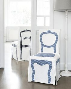 trompe l'oeil dining chair covers (stoelhoes ariadne at home)