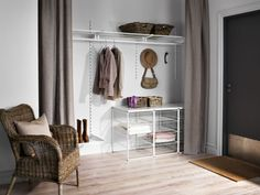 No closet in your entryway? No worries! With the ANTONIUS series and a curtain, you can create your own closet wherever your heart desires.