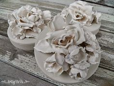 Artsy VaVa: Plaster Of Paris Flowers