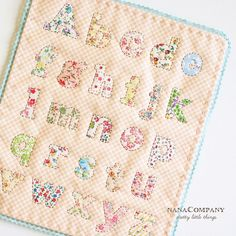 """ABC quilt by NanaCompany...very cute!!  She did a great job...and it is only10""""x12""""!!! cute cute cute!!!"""