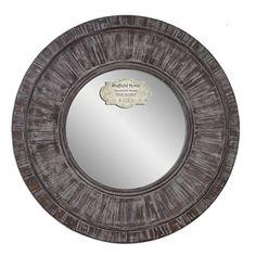 77f9355c73a9 Amazon.com  Weathered Wooden Round Framed Mirror 30 Inch Diameter  (Distressed Grey)  Home   Kitchen. Nautical Bathroom MirrorsNautical ...