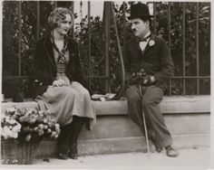 Charlie and Virginia Cherrill in a promo still for  City Lights