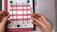 Stamping a Plaid Background with MISTI Tool