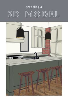 3D modeling online classes. Conveying concepts to interior design clients.