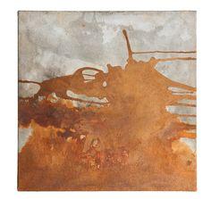 Matières & horizons de Cyrille Borgnet - matière urbaine (oxyde de fer sur toile 75x75) 2012
