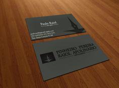 Criação de layout de cartão de Visita PPRA advogados