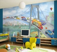 Watercolor Journey Tella Wall Mural