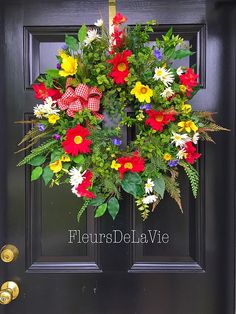 A personal favorite from my Etsy shop https://www.etsy.com/listing/225972667/spring-wreath-summer-door-wreath-wreath
