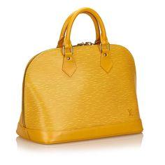 d53176aadc17 Louis Vuitton Epi leather Alma PM Handbags Leather Yellow ref.83064 - Joli  Closet Alma