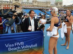 2011 FIVB Visa Beach Volleyball Olympic Games Test Event in London.