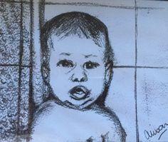 Nathan as a babe! Pencil on canson. Charcoal, Babe, Pencil, Pastel, Cake, Crayon Art, Melting Crayons