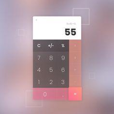 "Daniel Pieterse Design (@dan_dsgn) on Instagram: ""Daily UI #004 Calculator #design #dailyui #dailyuichallenge #number4 #calculator #app #square…"""