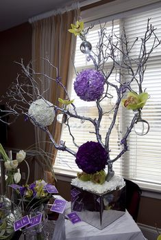 branch wedding decor by Kio Kreations