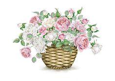 Antique Images Digital Scrapbooking Flower Bouquet With