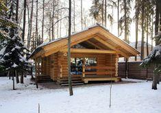 Проект-традиционно рубленная баня из бревна-Зеленая роща 1-1