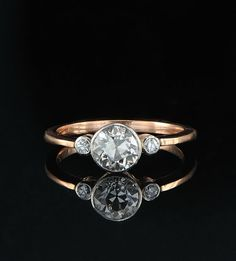 omg i LOVE  it!! Genuiune Victorian 120 Ct diamond Trilogy very by hawkantiques, £3450.00
