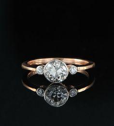 omg i LOVE  it!! Genuiune Victorian 120 Ct diamond Trilogy very by hawkantiques, £3450.00