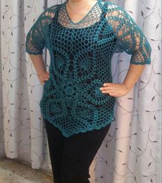Blusa en hexágonos parte 1/3 ~ **Pretty Pattern Using Crochet Thread** ~W~
