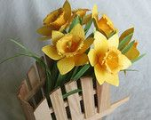Handmade Mini Paper Tulips In Holland Clog