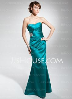 Evening Dresses - $126.99 - Mermaid Sweetheart Floor-Length Satin Evening Dress With Ruffle Beading (017014678) http://jjshouse.com/Mermaid-Sweetheart-Floor-Length-Satin-Evening-Dress-With-Ruffle-Beading-017014678-g14678