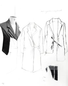 Fashion Sketchbook - tailored jacket design development; fashion sketches; fashion portfolio // Alexandra Baldwin