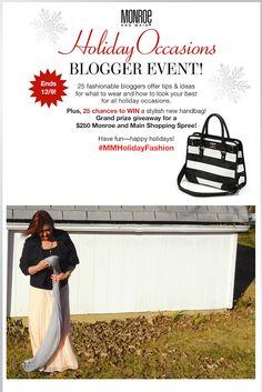 Come Enter the #MMHolidayFashion Event! #ad @monroeandmain