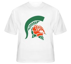 Michigan State Rose Bowl 2014 Mash Up T Shirt Msu Spartans 46b613078a1b