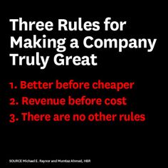 Three Rules for Making a Company Truly Great via Harvard Business Review | Amen. | RonaldWilsher.com