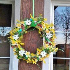 #decorations #wreath #outdoor #design #spring #Easter #handmade #flowers #wiosna #wielkanoc #wianek #wieniec #dekoracje #ozdoby #diy
