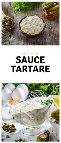 #sauce #tartare Sauce Camembert, Sauce Tomate Pizza, Tartare Recipe, Red Lobster, Mayonnaise, Vinaigrette, Baked Potato, Food And Drink, Cheese