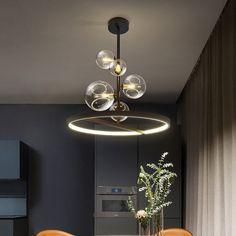 Chandelier Bulle, Circular Chandelier, Bubble Chandelier, Hanging Chandelier, Ceiling Hanging, Ceiling Chandelier, Black Chandelier, Ceiling Pendant, Pendant Lighting