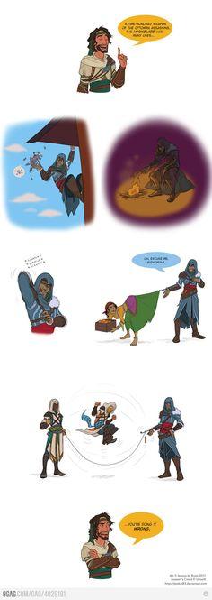 lol... Assassin's creed revelations: true uses of the hookblade.