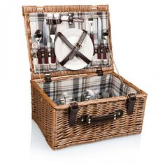 Perfect for tailgating or a nice picnic, get the Bristol Picnic Basket with Deluxe Service for Two, available at the Food Network Store.