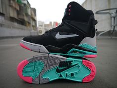 """Always have a retro option for your shoes collections.""""Nike Air Command Force Spurs"""""""