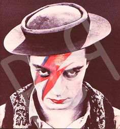 Buster Keaton  David Bowie's Ziggy by PolyesterCowboyProds on Etsy, $17.99