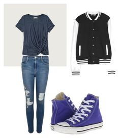 """Untitled #30"" by katrinawells on Polyvore featuring Abercrombie & Fitch, Frame Denim, Converse and MANGO"