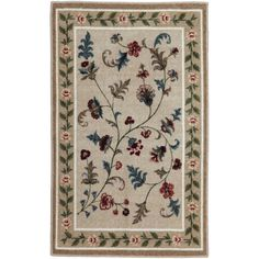 Flower Patch Washable Rectangular Rug (1.510 RUB) ❤ liked on Polyvore featuring home, rugs, rectangular rugs, rectangle rugs, flower area rug, flower stem and flower rug