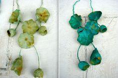 diy-paper jewelry-paper jewel-paper jewels-collane di carta-eco gioielli-statement