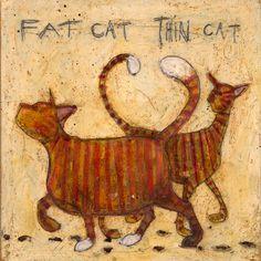 """Fat Cat - Thin Cat"" - Sam Toft"