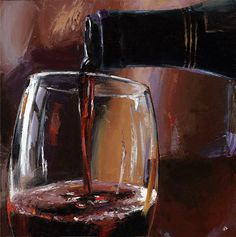 "*Oil Painting - ""Pouring Wine"" by Victor Bauer"