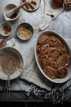 Bonfire night spiced apple parkin rolls with spiced whisky glaze